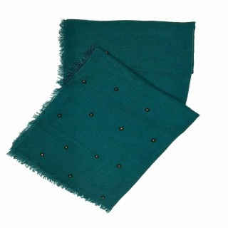 Designer Crush Star-Studded Scarf - Green