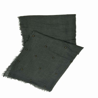 Designer Crush Star-Studded Scarf - Grey