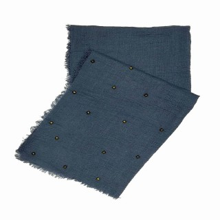 Designer Crush Star-Studded Scarf - Ocean Blue