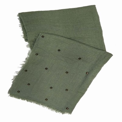 Designer Crush Star-Studded Scarf - Sage Green