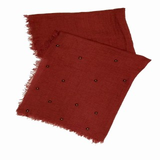 Designer Crush Star-Studded Scarf - Maroon