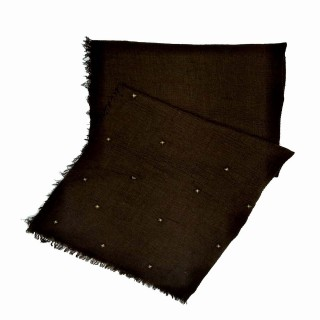 Designer Crush Star-Studded Scarf - Chocolate Brown