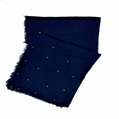 Designer Crush Star-Studded Scarf - Oxford Blue