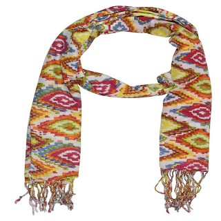 Cotton Shaded Stole-Multi printed