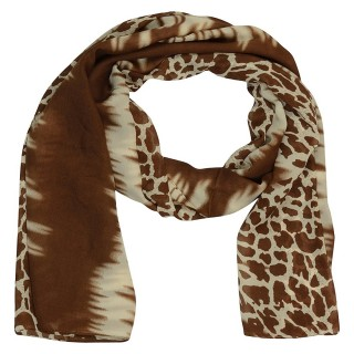 Premium Tiger Printed Stole-Brown Color