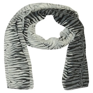 Premium Tiger print Stole-White Color