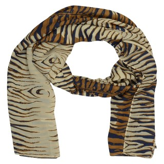 Tiger printed Stole - Crepe Fabric
