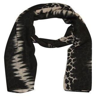 Black Color-Tiger printed Stole