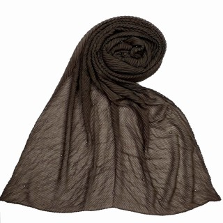 Premium crush Diamond stole- Brown