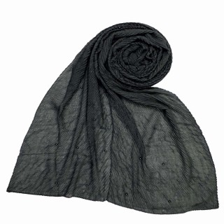 Premium Crush Diamond Stole - Grey