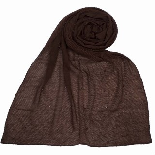 Premium Crush Diamond Stole - Chocolate Brown
