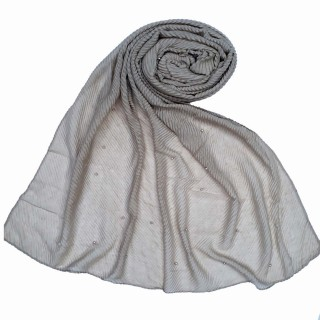 Premium Crush Diamond Stole - Fossil Brown