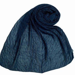 Premium Crush Diamond Stole - Indigo