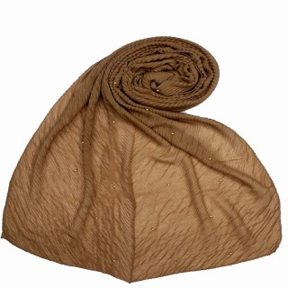 Premium Crush Diamond Stole - Tawny Brown