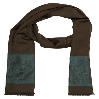 Premium Silk Border Stole- Coffee
