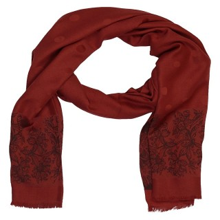 Premium Silk Border Stole-Red