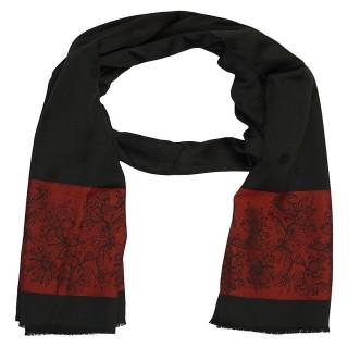 Premium Silk Border Stole-Black Color