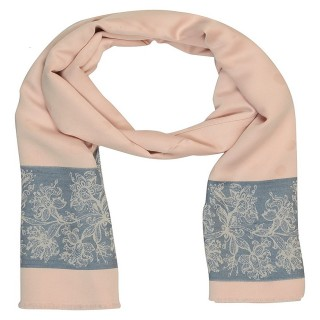 Premium Silk Border Stole-Pink Color