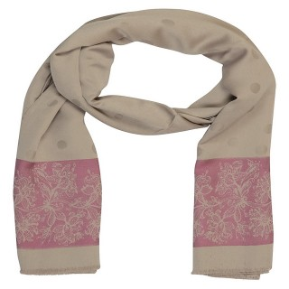 Premium Silk Border Stole-Brown Color