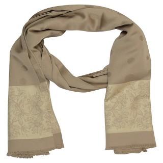 Brown-Premium Silk Border Stole