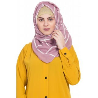 Designer cotton Grid hijab- Pink