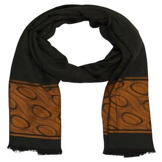 Premium Silk Border Stole-Black