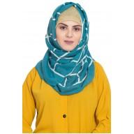Designer cotton Grid hijab- Green