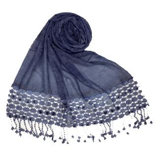 Cotton designer Hijab- Blue