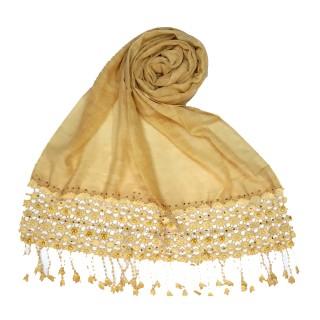 Cotton designer Hijab- Yellow
