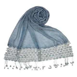 Cotton designer Hijab- Sky Blue