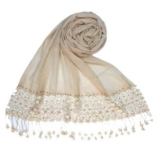 Cotton designer Hijab- Off-White