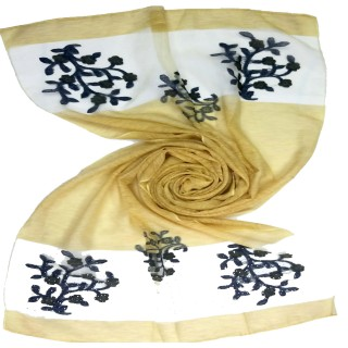 Double sided tissue Hijab- Lemon yellow