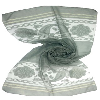 Double sided tissue hijab- Green