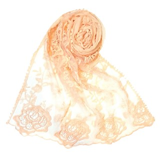 Designer half net hijab - Orange