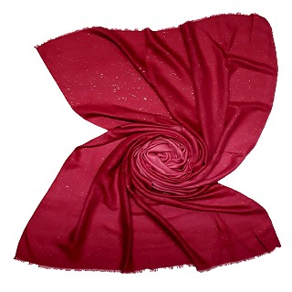 Party Wear Double Shaded Glitter Stole - Maroon