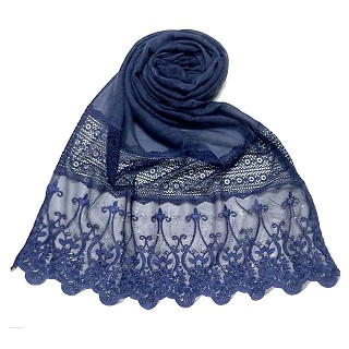 Limited Stock - Designer Diamond Studed Stole | Blue