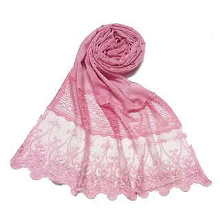 Limited Stock - Designer Diamond Studed Stole | Pink