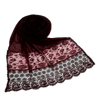Limited Stock - Fashionable Designer stole | Maroon