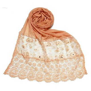 Limited Stock - Fashionable Designer stole | Dark Orange