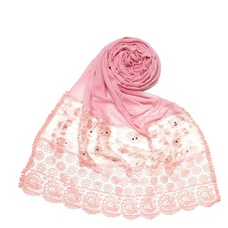 Limited Stock - Fashionable Designer stole | Light Pink