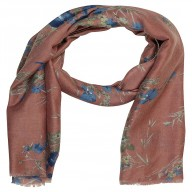 Designer Viscose Printed Stole-Pink Color