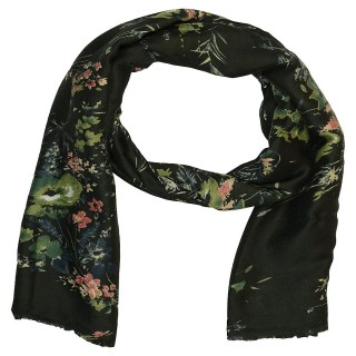 Designer Viscose Printed Stole-Black Color