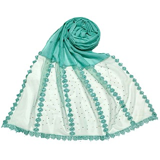 Premium Cotton Hijab- Green