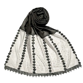 Premium Cotton Hijab- Dark Grey