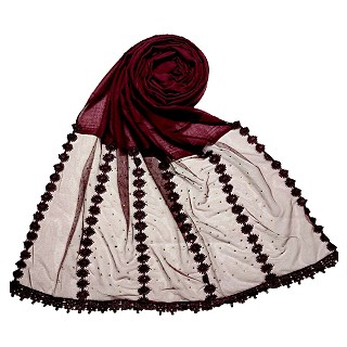 Premium Cotton Hijab- Maroon