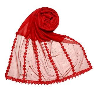 Premium Cotton Hijab- Red