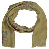 Designer Viscose Printed Stole- Brown Color