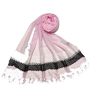Premium Cotton three liner Hijab - Pink
