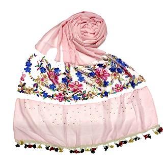 Flower Aari Diamond Collection - Baby Pink