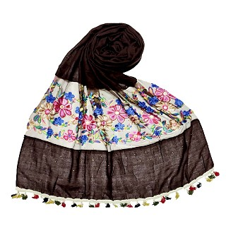 Flower Aari Diamond Collection - Dark Brown